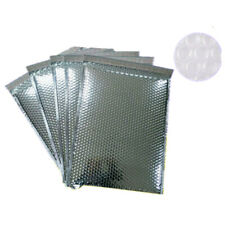 Silver Aluminum Foil Bubble Mailers Envelope Waterproof Packing Bag Padded Bags