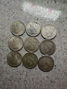 Peace Dollar Lot (9x) Silver ounces Investment 🔥