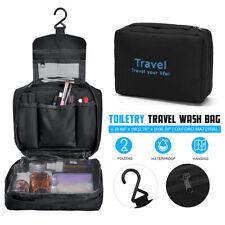 Mens Travel Hanging Folding Toiletry Wash Bag Makeup Cosmetics Organizer Case