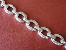"""Shiny DESIGNER R Sterling Silver LINK BRACELET 7 1/2"""" x 3/8"""""""