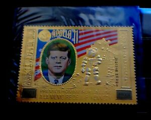 CAMBODGE CAMBODIA / GOLD STAMP / KENNEDY / RARE