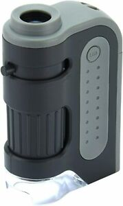 Carson MicroBrite Plus 60x-120x LED Lighted Zoom Pocket Microscope