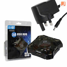 NEW 4 Port USB 2.0 Hi-Speed Hub with Mains Power Adapter - UH204P02P Powered