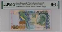 ST. THOMAS & PRINCE 10000 DOBRAS 1996 P 66 a GEM UNC PMG 66 EPQ