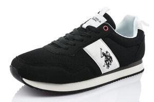 TOP U.S. POLO ASSN. EXTE-BLK 4250S0/MH1 Herrenschuhe Sneaker Turnschuhe Schwarz