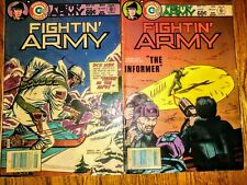 """""""Fightin Army"""" Charlton Military Comic Book Lot (2) Issues #169,170 May-June '84"""