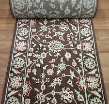 """Rug Depot Stair Runner Remnant 27"""" x 24'2 Brown Staircase Rug Runner Poly"""