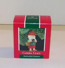 Vintage Hallmark Keepsake 1989 Camera Claus Santa Elf Christmas Ornament EC