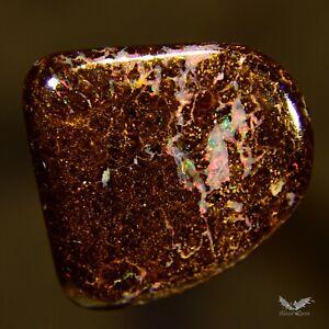 10.45 cts Australian Boulder Opal Solid Polished Red Pink Orange Stone #6.111