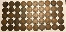 Complete Roll of 50 1890 Indian Head Cents Pennies Solid Good+ FREE SHIPPING!