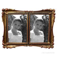 Rokoko Barock Bilderrahmen Doppel Fotorahmen 2 Fotos Gold 10x15 Antik Vintage