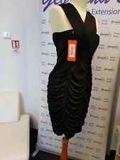 Karen Millen Ruffle Bodycon Dress Black Size 12 RRP £135 BNWT