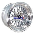MST Wheels MT10 Rims 16 16x8 +20 Silver Machine Lip 5x114.3 5x100 5x4.5 Mesh