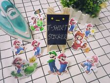11 Mario Super Mario t-shirt transfer sticker for light color fiber cloth