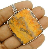 Natural Bumble Bee Druzy 925 Solid Sterling Silver Pendant Jewelry, ED28-3
