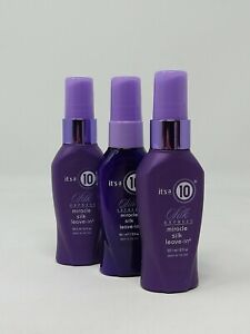 3 Pack, It's a 10 Miracle SILK EXPRESS LEAVE IN 2 oz Each TRAVEL SIZE #0648