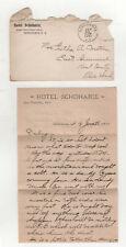 1901 HOTEL SCHOHARIE NEW YORK Correspondence STATIONERY NY Ezra Twitchell