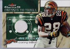 COREY DILLON 2002 Fleer Maximum PATCH Dressed to Thrill JERSEY #d /250 BENGALS