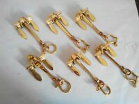 Lot of 6 Brass Anchor Keychains Nautical keychain handcuff keychain Gift Items