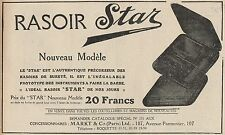 Y7315 Rasoir STAR - Nouveau Modèle - Pubblicità d'epoca - 1924 Old advertising