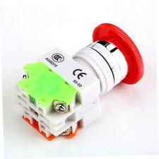 NC N/C Emergency Stop Switch Push Button Mushroom Push Button 4Screw Terminal SE