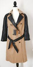 Zara Womens Overcoat Trench Belted Coat Casualwear Colour Beige Size L