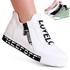 Damen Plateau Sneaker Turnschuhe Slipper High Halbschuhe Slip on