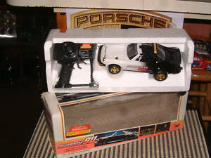 """VINTAGE NOS RADIO CONTROLLED PORSCHE """"AWESOME 911"""" IN BOX! MADE BY NEW BRIGHT!"""