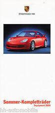 Prospekt Porsche Sommer-Kompletträder, 2000 3/00 brochure summer wheels