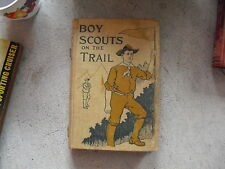 Vintage 1912 Book The Boy Scouts on the Trail by Robert Maitland