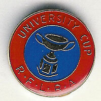 UNIVERSITY CUP REFS ASSOCIATION AUSTRALIA RUGBY LEAGUE ENAMEL PIN BADGE BF 17mm