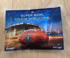Super Bowl 48 XLVIII Warm Welcome SGA Hand Warmer Verizon Promo Item GIVE AWAY