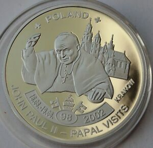 5 Kwacha Malawi 2011 pope John Paul II POLAND Krakow - Papal visits 2002