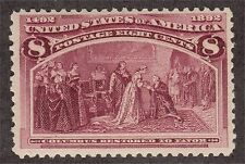 United States Scott #236 8c Columbian Expo Issue Mint Never Hinged Original Gum