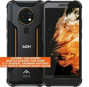 "AGM H3 RUGGED 4gb 64gb Octa Core 5.7"" Waterproof Fingerprint Android 11 4g NFC"