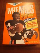 WALTER PAYTON SWEETNESS SIGNED WHEATIES CEREAL BOX GUARANTEED AUTHENTIC