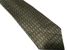 Via Europa Fine Neckwear Necktie Silk Tie Geometric Rectangle Grid Green