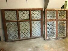 More details for pair of traditional wood and cast iron framed windows