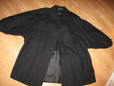 Komitor Black vintage Car Swing Coat Wool Blend Black
