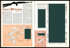 1962 U.S. M1 Carbine Exploded View Parts List 2-page Assembly Article