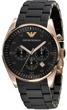 Emporio Armani AR5905, Black Silicon Chronograph Strap Watch For Men