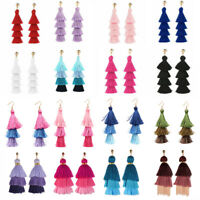 Bohemian Long Tassel Earring Layered Long Thread Dangle Earrings Fashion Jewelry