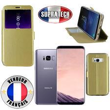 Etui Rabattable Or Avec Ouverture Ecran pour Samsung Galaxy S8 Plus G955