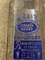Vintage Drug Store Medicine Bottle Rexall Drugs Latrobe Pa