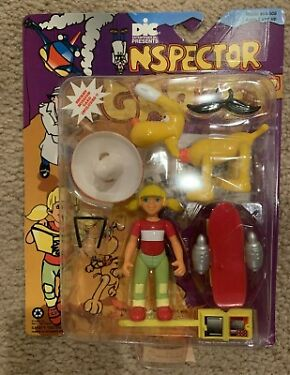 Inspector Gadget Penny and Dog Brain Action Figures Tiger Toys on Card 1992