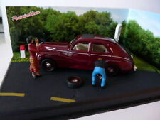 Voiture 1/43 IXO altaya route bleue diorama Peugeot 203 Route nationale 7 RN7