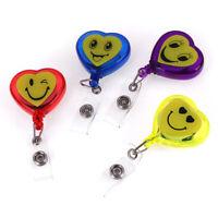 Retractable Reel Recoil ID Badge Lanyard Name Tag Card Holder Belt Clip RG U_X