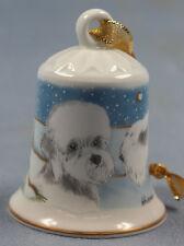 dandie dinmont sealyham Terrier Porzellan glocke figur porzellan