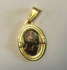 Our Lady of the Rosary of Pompeii, Oval Medal, New from Italy,