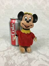Vintage 60s Walt Disney Minnie Mouse Figure Sawdust Filled Rubber Head Do146